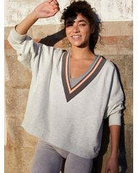 Free People - Bowled Over Your V-neck Sweatshirt - Lyst