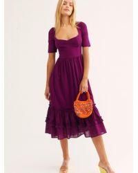 Free People Frances Midi Dress By Endless Summer - Purple
