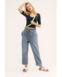 Free People Lived And Loved Tapered Trousers By We The Free - Blue