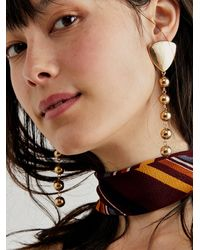 Free People Maybe Dangle Earrings - Metallic