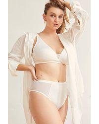 Free People Cara High-rise Bikini Undies - White