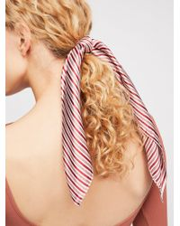 Free People - Printed Scarf Pony - Lyst