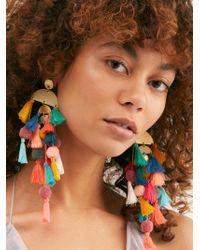 Free People Calypso Dangle Earrings - Multicolour