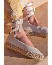 Free People Eloise Wrap Espadrilles By Fp Collection - White