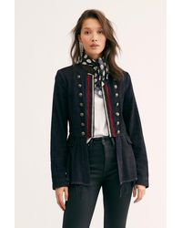 Free People Lucy Military Jacket - Black