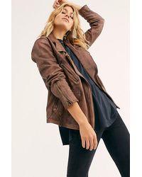 Free People Jealousy Leather Moto Jacket - Multicolour