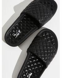 Free People Apl Lusso Slides - Black