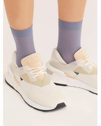 Free People Polly Rib Trouser Socks - Gray