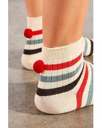 Hansel From Basel Theo Rib Pom Socks - Multicolour