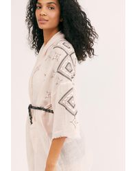 Free People Isabella Embroidered Robe By Intimately - Multicolor