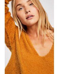 Free People - Princess V-neck Sweater - Lyst