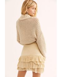 Free People Fp One Maura Ruffle Skirt - Natural