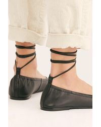 Free People Rumor Wrap Flats By Fp Collection - Black