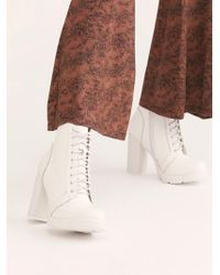 Free People Solar Heel Boot By Jeffrey Campbell - Multicolour