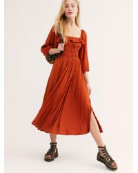 Free People - Shiny Oasis Midi Dress - Lyst