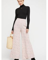 Free People - Easy Peasy Printed Wideleg - Lyst
