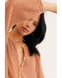 Free People - Blossom Button-up T-shirt Dress By Fp Beach - Lyst