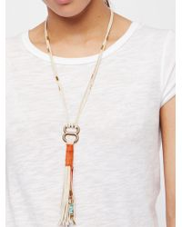 Free People | Alloy Ring Leather Bolo | Lyst