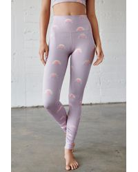 6b41ebaeec3f2 Free People Mid-rise 7/8 Length Seamless Triumph Legging By Fp Movement in  Purple - Save 44% - Lyst