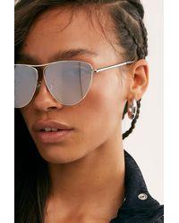 Free People Metal Oversized Cat-eye Sunglasses - Metallic