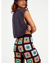 Free People Frances Crochet Shorts - Black