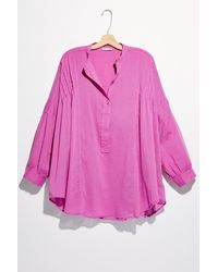 Free People Tuck Up Tuck In Sleep Shirt By Intimately - Pink