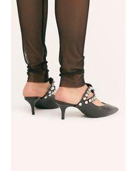 Free People Milan Kitten Heels By Vicenza - Black