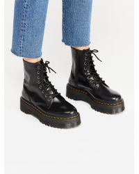 Free People Dr. Martens Jadon Lace-up Boot - Black