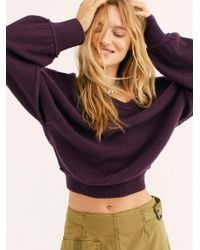 Free People Love Like This Cashmere Pullover - Purple