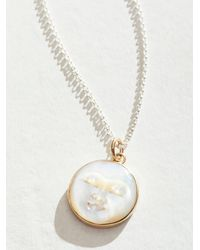 Free People Halcyon Lunarian Necklace - White