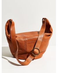 Free People Louie Leather Hobo - Brown
