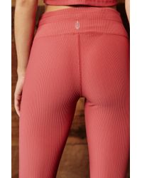 Free People - High-rise 7/8 Length Starboard Ribbed Legging By Fp Movement - Lyst