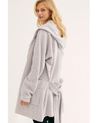 Free People Willow Hooded Cardi - Gray