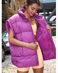 Free People In A Bubble Puffer Vest - Purple
