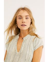 Free People - River Linen Stripe Tunic By Cp Shades - Lyst