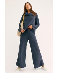 Free People Cozy Sunset Set By Fp Beach - Blue