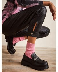 Free People Vagabond Cosmo 2.0 Hardware Loafers - Black
