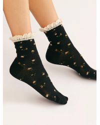 Free People - Ditsy Darling Waffle Knit Socks - Lyst