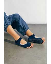 ToeSox Interstellar Half-toe Grip Socks - Blue