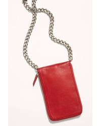 Free People All Night Chunky Chain Wallet By Fp Collection - Red