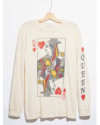 Free People Queen Of Hearts Oversized Long Sleeve - Multicolor