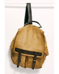 Free People Trailblazer Leather Backpack - Multicolour