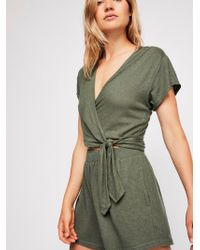 Free People - Fauna Knit Playsuit - Lyst