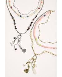 Free People Sanara Layered Necklace - Metallic