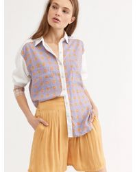 Free People - We The Free Live Moroccan Midnight Buttondown - Lyst