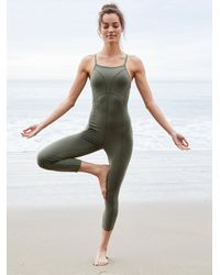 Free People Side To Side Performance Onesie By Fp Movement - Green