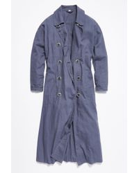 Free People Sweet Melody Trench Coat - Blue