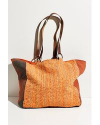 Free People Winnie Washed Tote - Multicolour