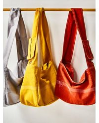 Free People We The Free Waxed Canvas Sling - Yellow