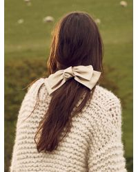 Free People - Silk Bow Barrette - Lyst